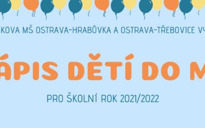 Zápis do MŠ pro šk. rok 2021/2022
